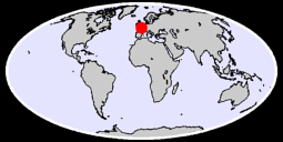 49.03 N, 0.00 W Global Context Map