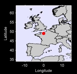 49.03 N, 0.00 W Local Context Map