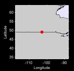 49.03 N, 102.86 W Local Context Map