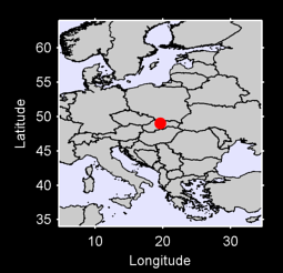 49.03 N, 19.59 E Local Context Map