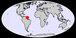 5.63 N, 53.27 W Global Context Map