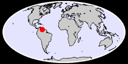 5.63 N, 64.57 W Global Context Map