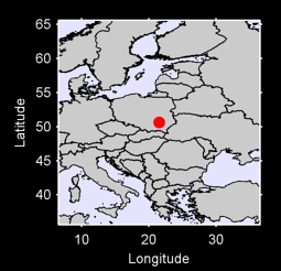 50.63 N, 21.55 E Local Context Map