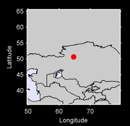 50.63 N, 64.65 E Local Context Map