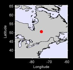 50.63 N, 74.79 W Local Context Map