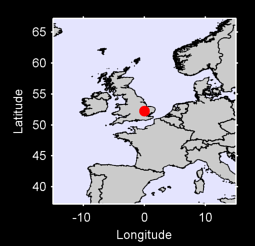 52.24 N, 0.00 W Local Context Map