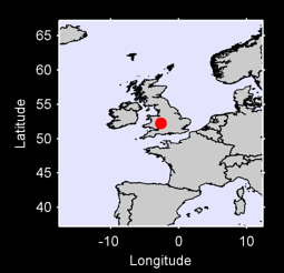52.24 N, 2.63 W Local Context Map