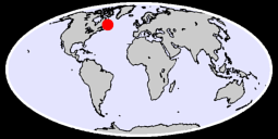 52.24 N, 57.81 W Global Context Map