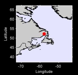 52.24 N, 57.81 W Local Context Map