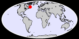 52.24 N, 60.44 W Global Context Map