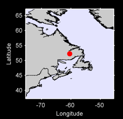 52.24 N, 60.44 W Local Context Map