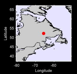 52.24 N, 65.69 W Local Context Map
