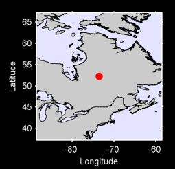 52.24 N, 73.58 W Local Context Map