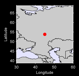 53.84 N, 45.00 E Local Context Map