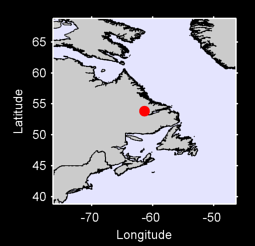 53.84 N, 61.36 W Local Context Map