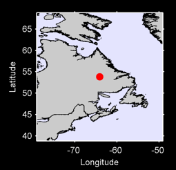 53.84 N, 64.09 W Local Context Map