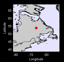 53.84 N, 66.82 W Local Context Map