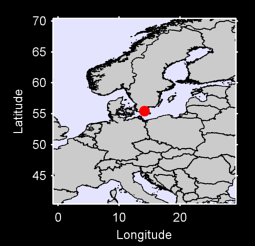 55.45 N, 14.17 E Local Context Map