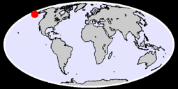 55.45 N, 164.41 W Global Context Map