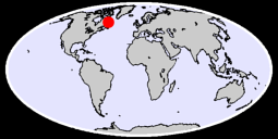 55.45 N, 59.53 W Global Context Map