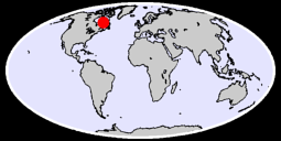 55.45 N, 70.87 W Global Context Map