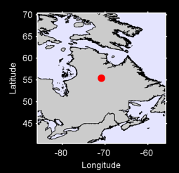 55.45 N, 70.87 W Local Context Map