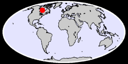 55.45 N, 90.71 W Global Context Map