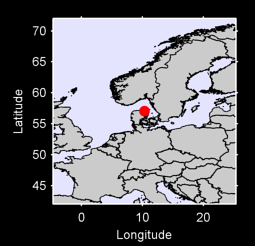 57.05 N, 10.33 E Local Context Map