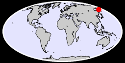 57.05 N, 160.82 E Global Context Map