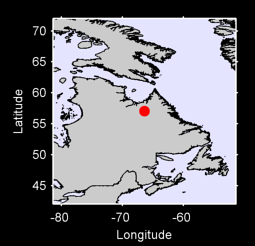 57.05 N, 66.39 W Local Context Map