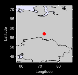 57.05 N, 72.30 E Local Context Map