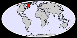 57.05 N, 72.30 W Global Context Map