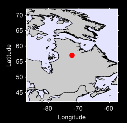 57.05 N, 72.30 W Local Context Map