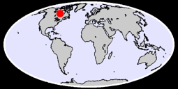 57.05 N, 90.00 W Global Context Map