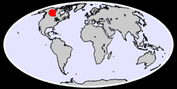58.66 N, 116.92 W Global Context Map