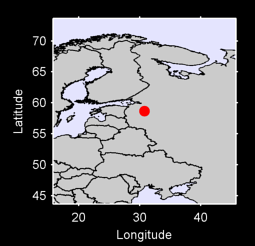 58.66 N, 30.77 E Local Context Map