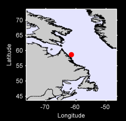 58.66 N, 61.54 W Local Context Map