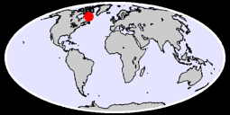 58.66 N, 64.62 W Global Context Map