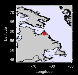 58.66 N, 64.62 W Local Context Map