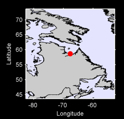 58.66 N, 67.69 W Local Context Map