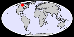 60.27 N, 116.76 W Global Context Map