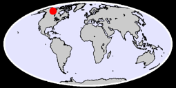 61.88 N, 120.57 W Global Context Map