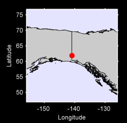 61.88 N, 140.94 W Local Context Map