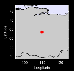 63.49 N, 109.80 E Local Context Map