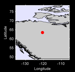 63.49 N, 120.60 W Local Context Map