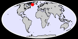 63.49 N, 52.20 W Global Context Map