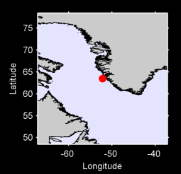 63.49 N, 52.20 W Local Context Map