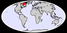 63.49 N, 91.80 W Global Context Map