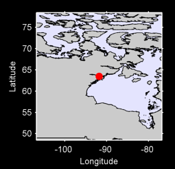 63.49 N, 91.80 W Local Context Map