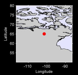 65.09 N, 101.49 W Local Context Map